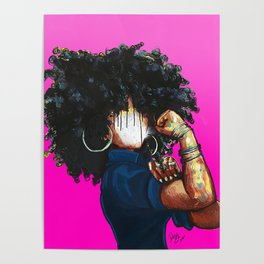 Naturally the Riveter PINK  Poster