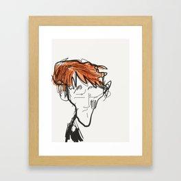 Just Woke Framed Art Print
