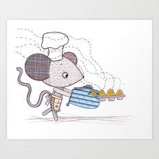 Bakery Mouse Art Print