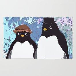 Together We Weather Penguin Art Rug