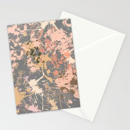Skin Tones - Liquid Makeup Foundation - on Gray Stationery Cards