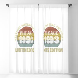 28 Year Old Gifts Vintage 1993 Limited Edition 28th Birthday Blackout Curtain