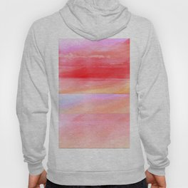 Seascape in Red, Yellow and Pink Hoody