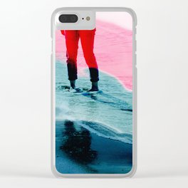 A girl and the sea Clear iPhone Case