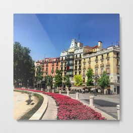 Madrid Circle Metal Print