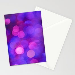 Purple and Pink Bokeh Stationery Cards
