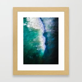 Savage Green - Australian Ocean Framed Art Print