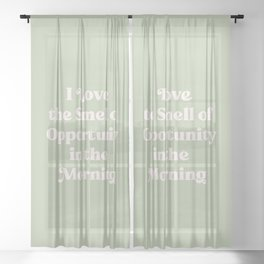 The smell of opportunity 2. Green #positivity #coffee Sheer Curtain