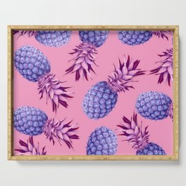 Violet pineapples Serving Tray