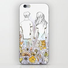 Holding Hands (3D papercut) iPhone & iPod Skin
