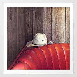 Sir, you left your hat. Art Print