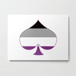 Asexual Spade Metal Print