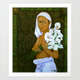 Flowers for an old love Art Print