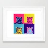 tigers Framed Art Prints featuring Tigers by retnemrapS