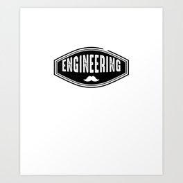 Awesome Vintage Engineering 1984 Aged To Perfection Art Print