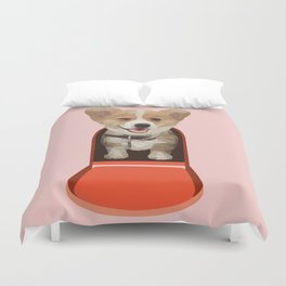 Corgi Delivery Duvet Cover