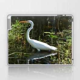 White Egret Laptop & iPad Skin