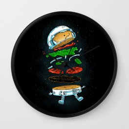The Astronaut Burger Wall Clock