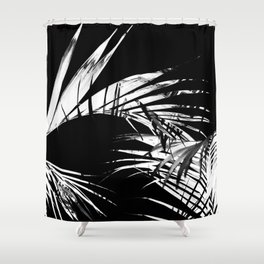 Troptonal dark Shower Curtain