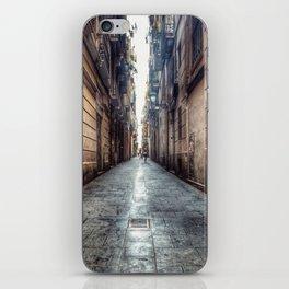 streets of barcelona iPhone Skin