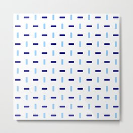 four lines 43 blue Metal Print