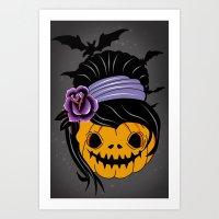 halloween Art Prints featuring Halloween by mark ashkenazi
