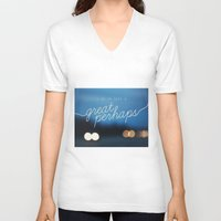 looking for alaska V-neck T-shirts featuring looking for alaska - great perhaps. by lissalaine