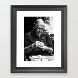 playing the time out Framed Art Print