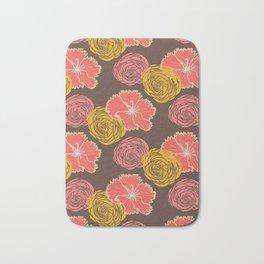 floral chocolate color Bath Mat