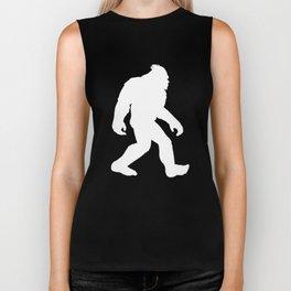 Bigfoot With A Man Bun Funny Sasquatch Biker Tank