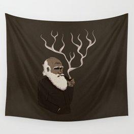 Darwin ponders evolution Wall Tapestry