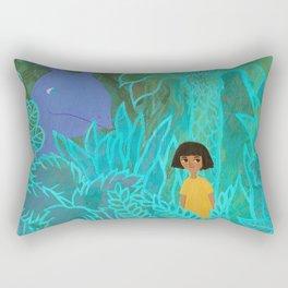 Little girl and Thing Rectangular Pillow