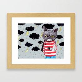 When It Rains, It Pours... Framed Art Print