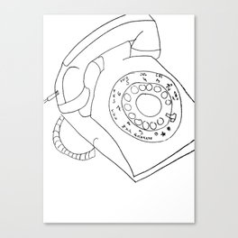 Vintage phone Canvas Print