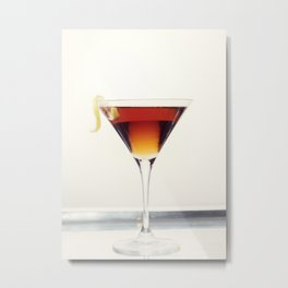 Cocktail with Twist Metal Print