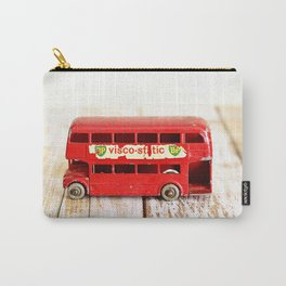 Vintage Red London Bus Carry-All Pouch