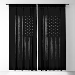 Grey American flag Blackout Curtain