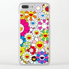 Takashi Murakami - Flowers Clear iPhone Case