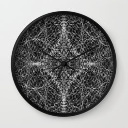 Diffract black and white Wall Clock