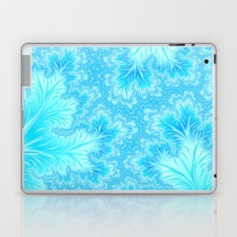 Abstract Christmas Aqua Blue Branches. Cute nature pattern Laptop & iPad Skin
