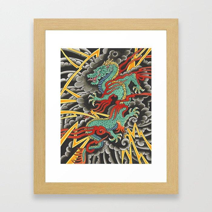 Japanese Dragon Tattoo Art Framed Art Print