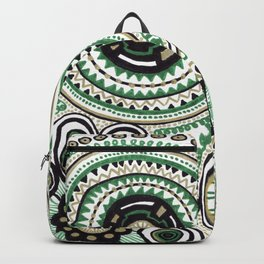 Green and Gold Rings Backpack
