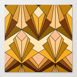 Art Deco meets the 70s - Large Scale Canvas Print