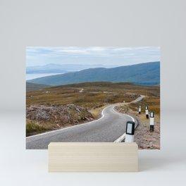 Scotland: Narrow single-track road Mini Art Print