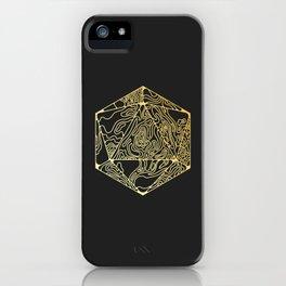 Gold Icosahedron iPhone Case