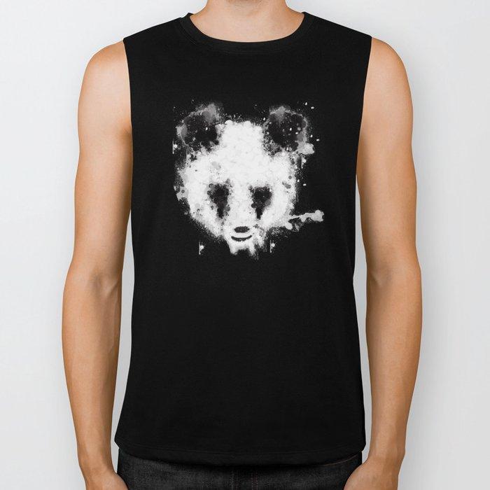 panda paint Biker Tank