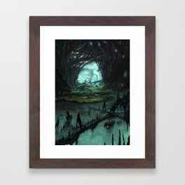 From Hell to Heaven through the tree of knowledge Framed Art Print