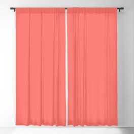 Living Coral Pantone Solid Color Block Blackout Curtain