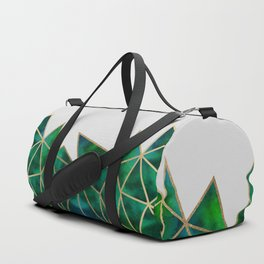 Emerald & Gold Geometric Duffle Bag