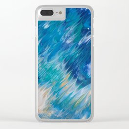 WAVES OF BLUE2 Clear iPhone Case